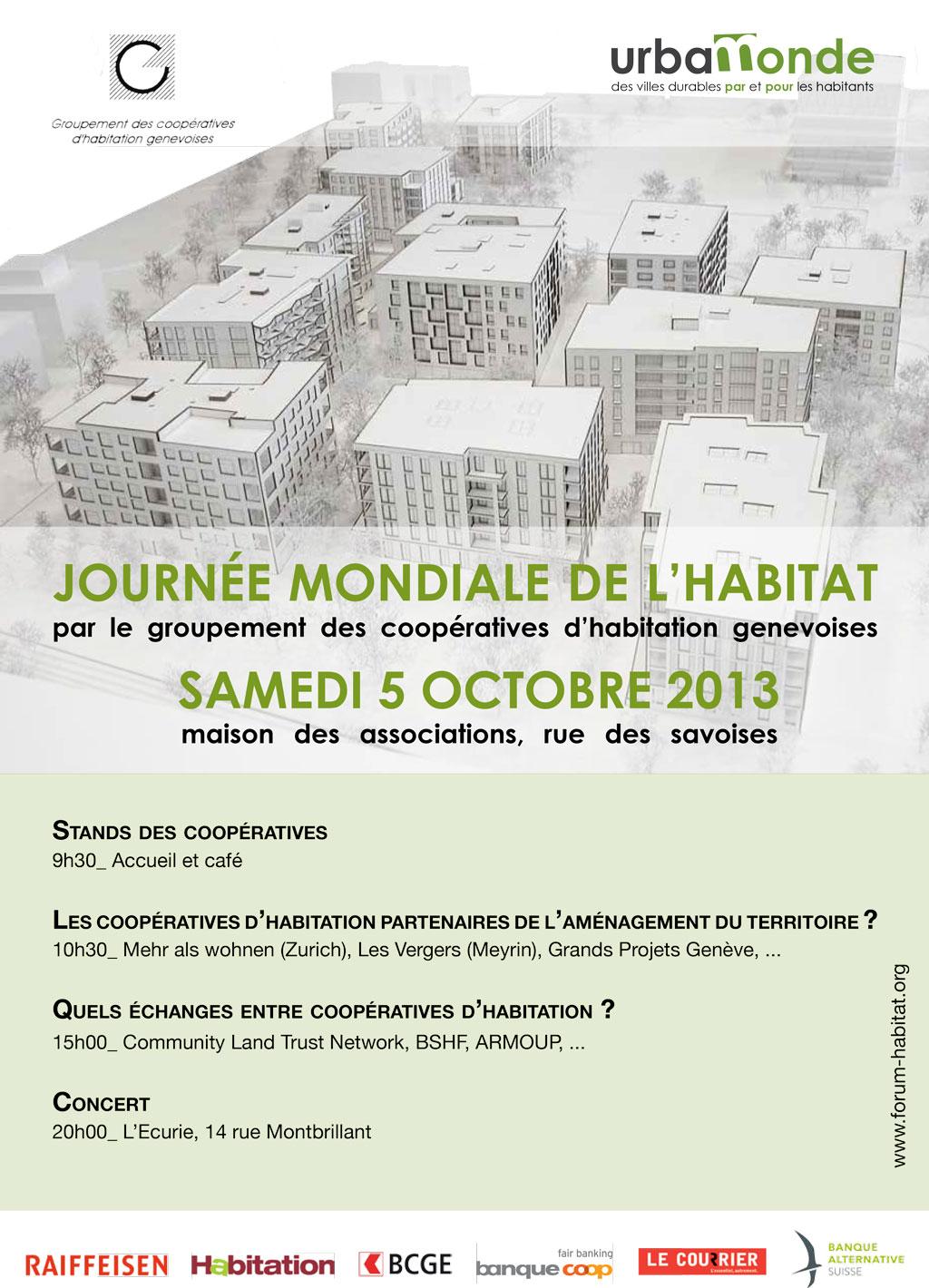 Flyer Journée de l'habitat du 5 octobre 2013